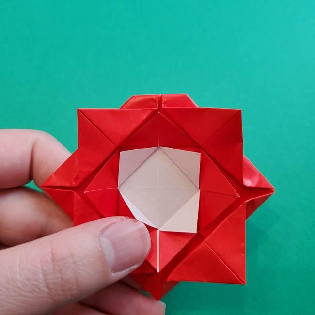母の日の折り紙 バラの簡単な折り方作り方(21)