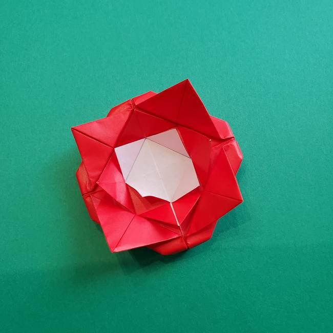 母の日の折り紙 バラの簡単な折り方作り方(22)