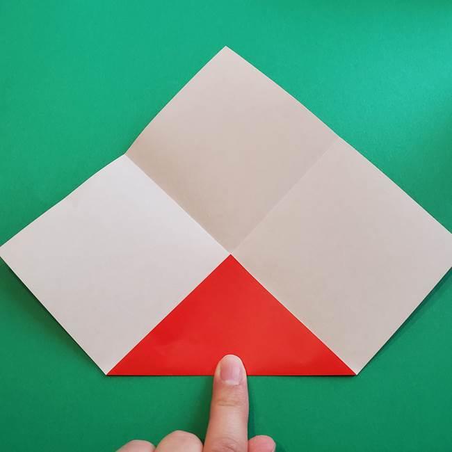 母の日の折り紙 バラの簡単な折り方作り方(6)