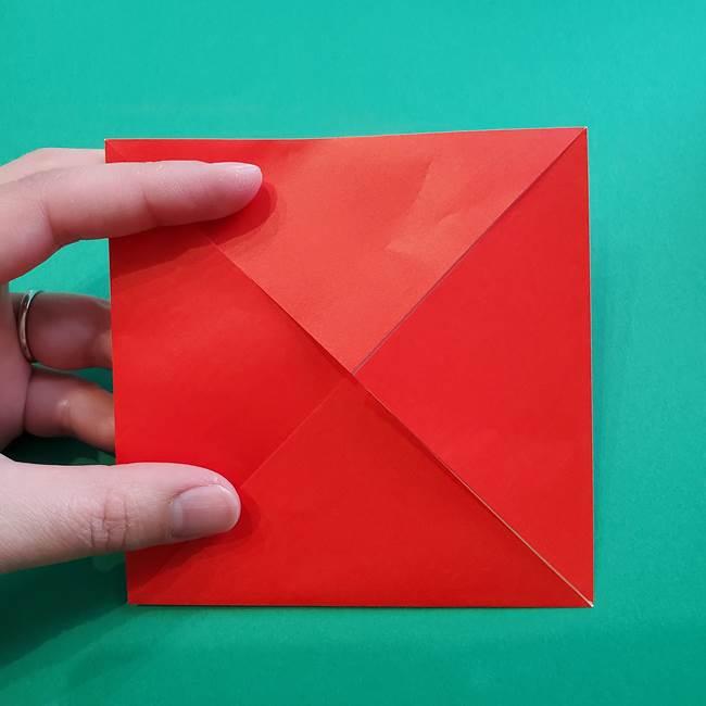 母の日の折り紙 バラの簡単な折り方作り方(7)
