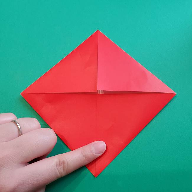 母の日の折り紙 バラの簡単な折り方作り方(8)