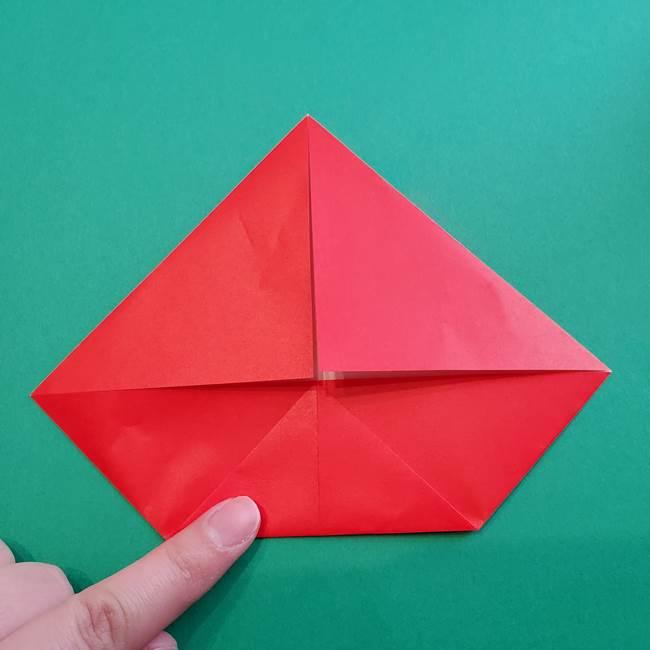 母の日の折り紙 バラの簡単な折り方作り方(9)