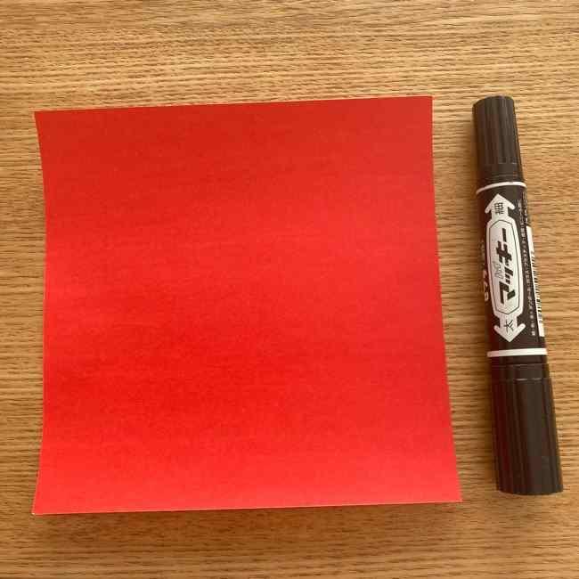 金魚の折り紙を簡単に3歳児と手作りしたよ☆