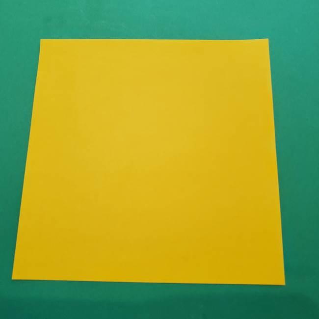 ひまわりの折り紙(8枚の花びら)の折り方作り方①花(1)