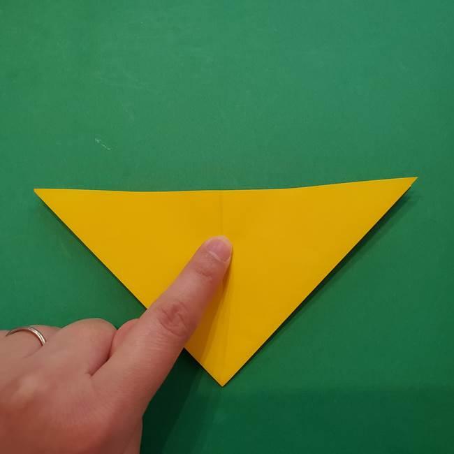 ひまわりの折り紙(8枚の花びら)の折り方作り方①花(11)