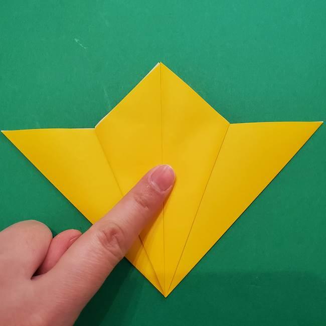 ひまわりの折り紙(8枚の花びら)の折り方作り方①花(12)