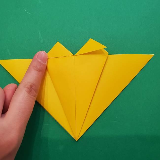 ひまわりの折り紙(8枚の花びら)の折り方作り方①花(13)