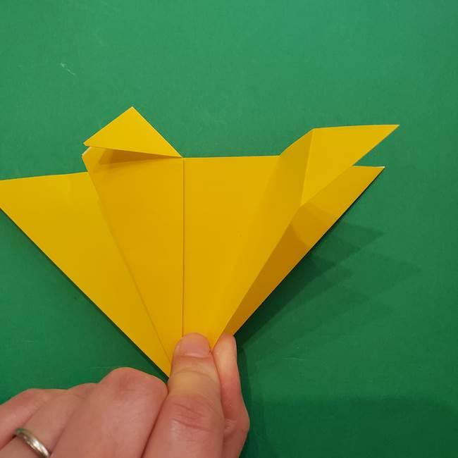 ひまわりの折り紙(8枚の花びら)の折り方作り方①花(14)