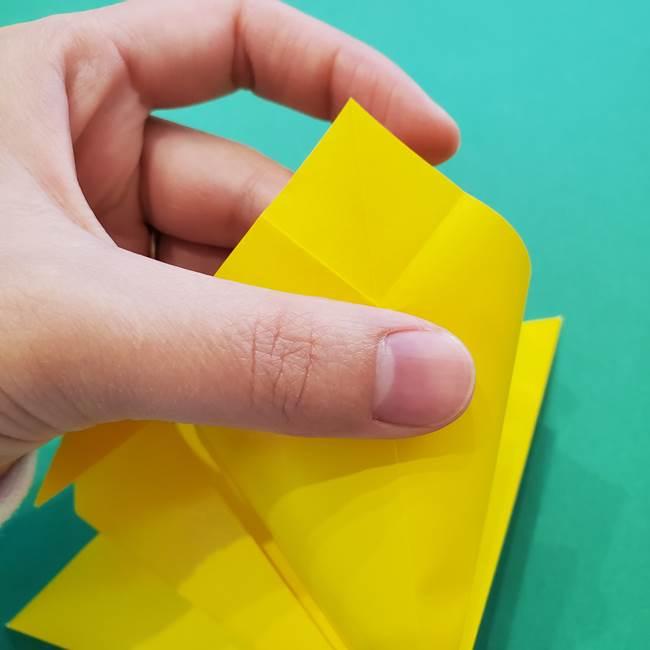 ひまわりの折り紙(8枚の花びら)の折り方作り方①花(15)