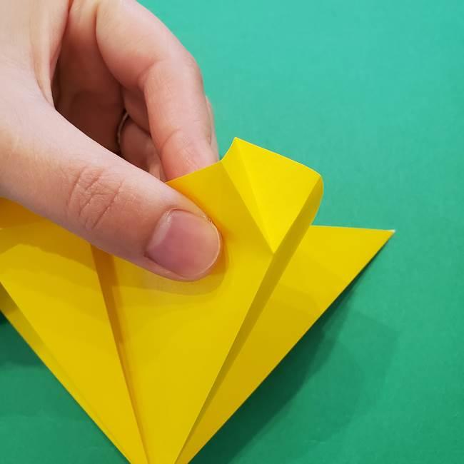 ひまわりの折り紙(8枚の花びら)の折り方作り方①花(16)