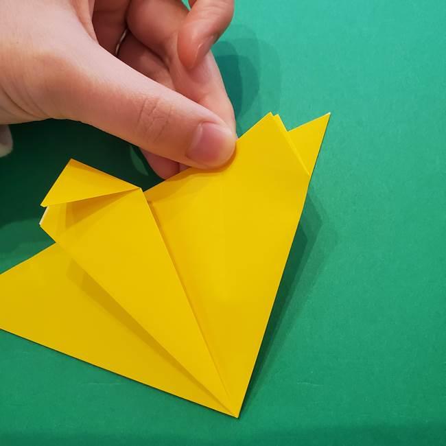 ひまわりの折り紙(8枚の花びら)の折り方作り方①花(17)