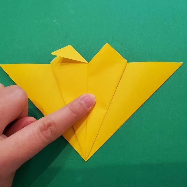 ひまわりの折り紙(8枚の花びら)の折り方作り方①花(18)