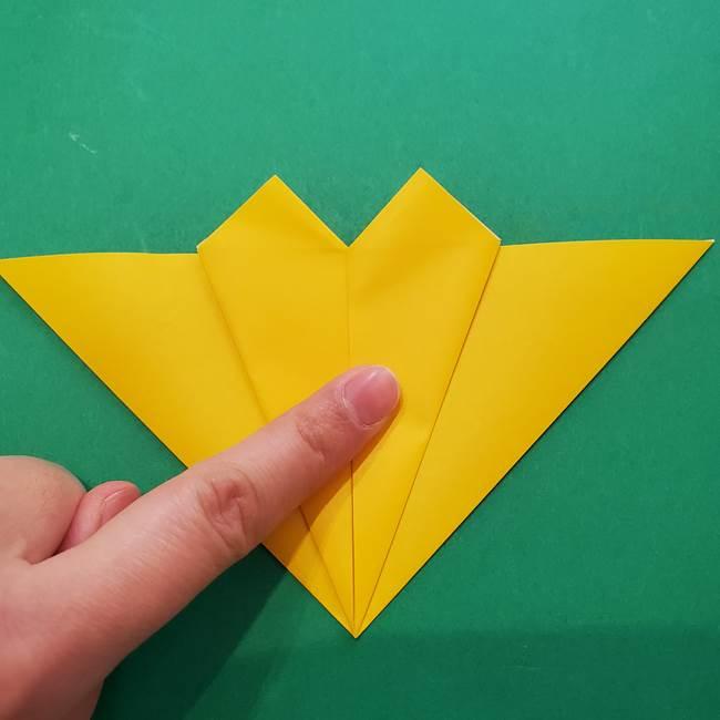 ひまわりの折り紙(8枚の花びら)の折り方作り方①花(19)