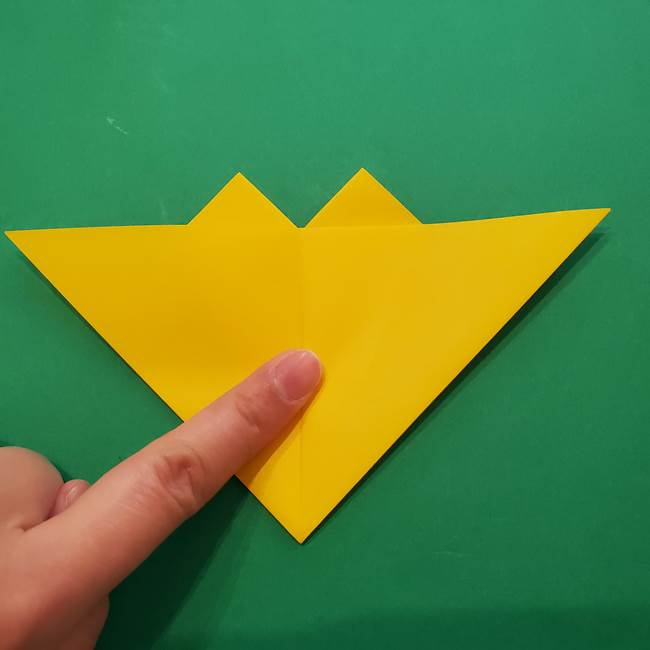 ひまわりの折り紙(8枚の花びら)の折り方作り方①花(20)