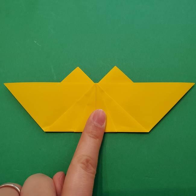 ひまわりの折り紙(8枚の花びら)の折り方作り方①花(21)