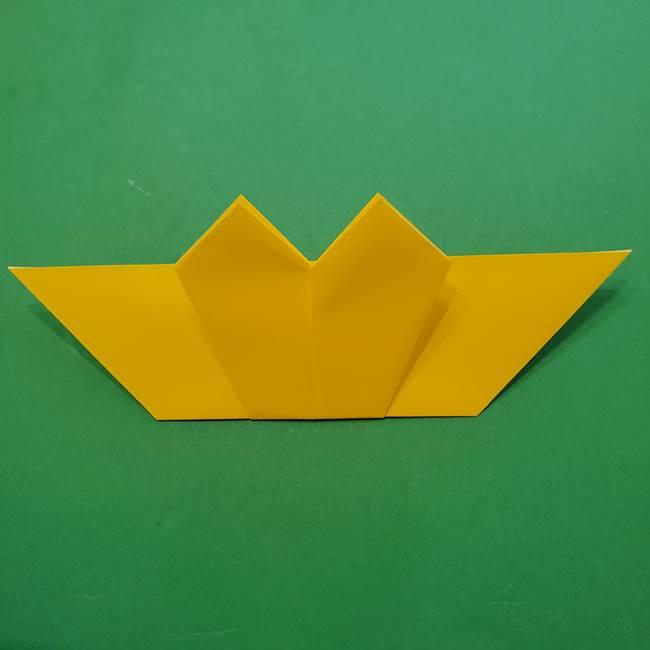 ひまわりの折り紙(8枚の花びら)の折り方作り方①花(22)