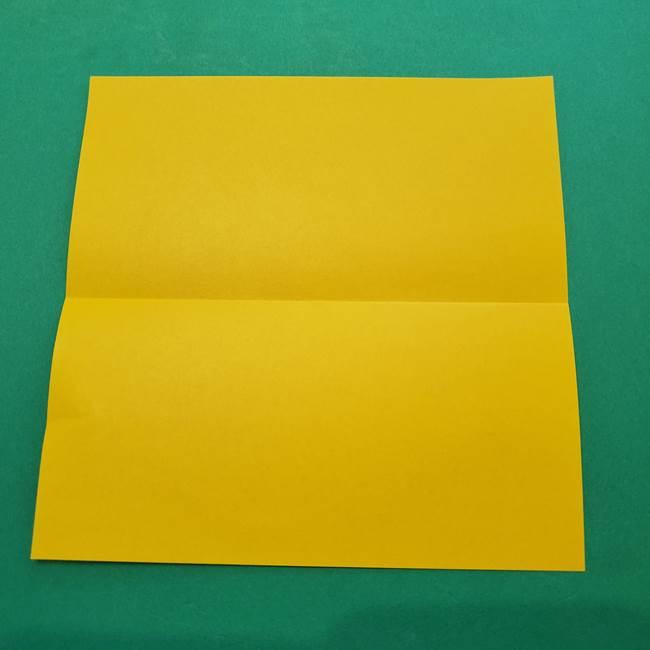 ひまわりの折り紙(8枚の花びら)の折り方作り方①花(3)