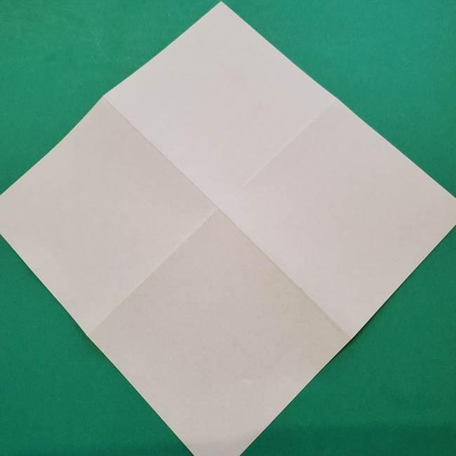ひまわりの折り紙(8枚の花びら)の折り方作り方①花(5)