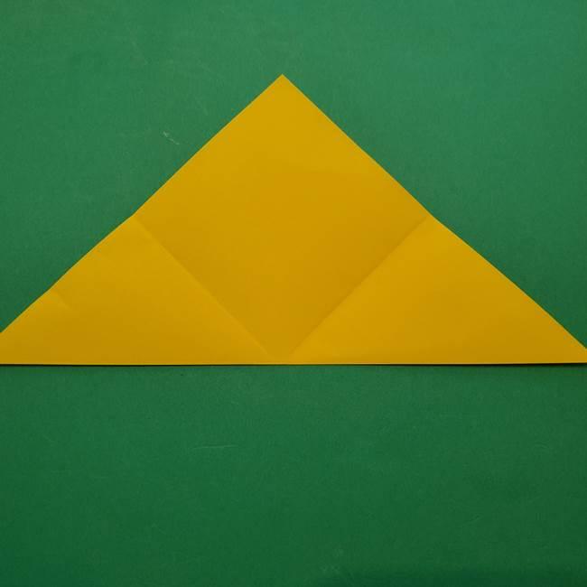 ひまわりの折り紙(8枚の花びら)の折り方作り方①花(6)