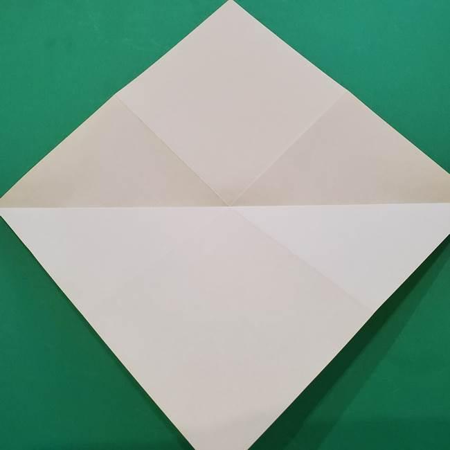 ひまわりの折り紙(8枚の花びら)の折り方作り方①花(7)