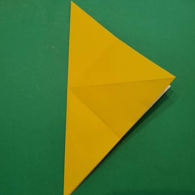 ひまわりの折り紙(8枚の花びら)の折り方作り方①花(8)