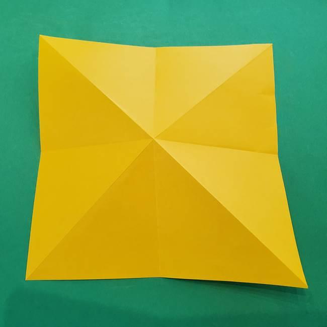 ひまわりの折り紙(8枚の花びら)の折り方作り方①花(9)