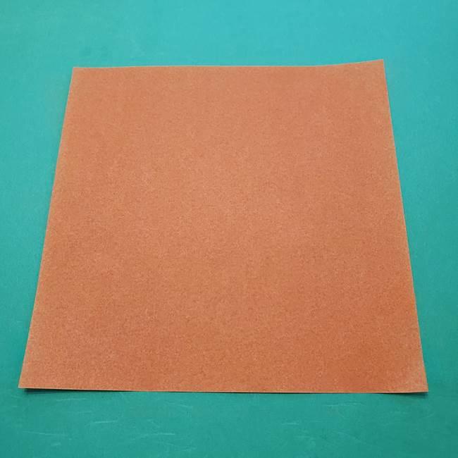 ひまわりの折り紙(8枚の花びら)の折り方作り方②中心(1)