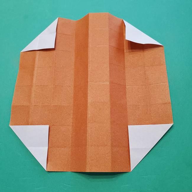 ひまわりの折り紙(8枚の花びら)の折り方作り方②中心(10)