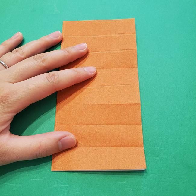 ひまわりの折り紙(8枚の花びら)の折り方作り方②中心(6)