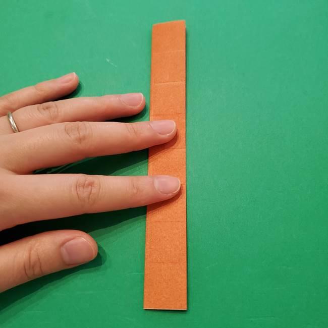 ひまわりの折り紙(8枚の花びら)の折り方作り方②中心(7)