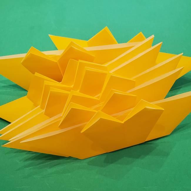 ひまわりの折り紙(8枚の花びら)の折り方作り方③組み合わせ(1)