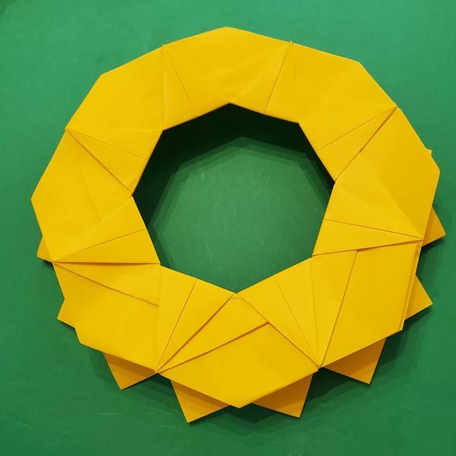ひまわりの折り紙(8枚の花びら)の折り方作り方③組み合わせ(11)