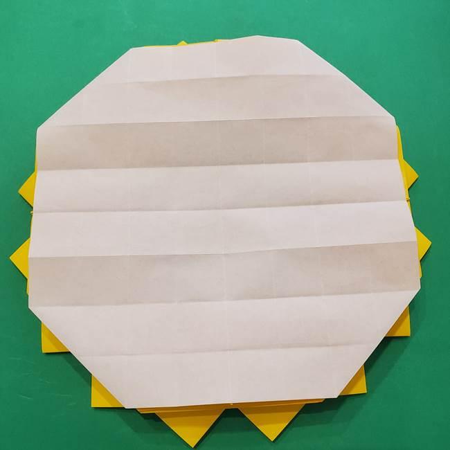 ひまわりの折り紙(8枚の花びら)の折り方作り方③組み合わせ(15)