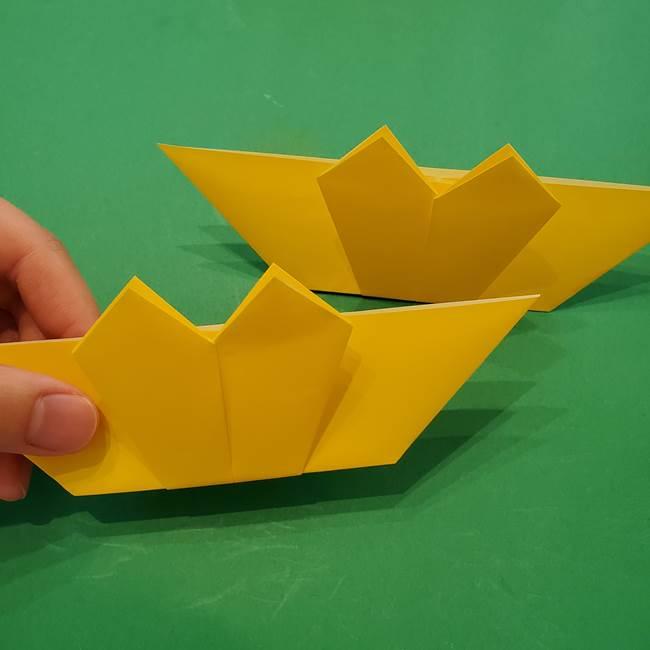 ひまわりの折り紙(8枚の花びら)の折り方作り方③組み合わせ(2)