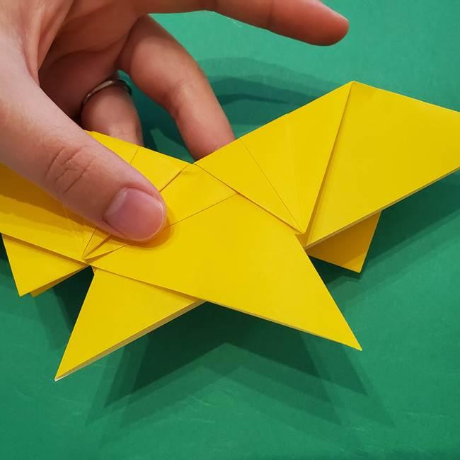 ひまわりの折り紙(8枚の花びら)の折り方作り方③組み合わせ(5)