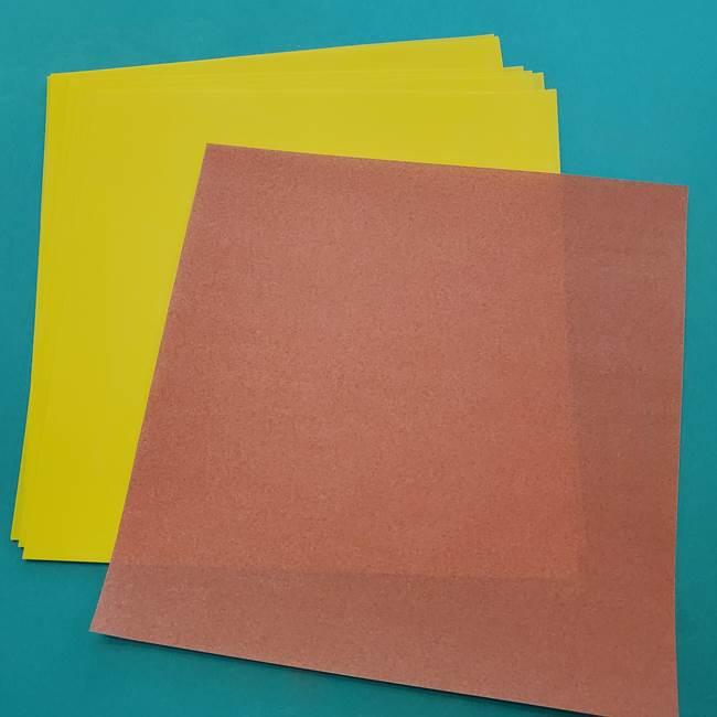 ひまわりは折り紙8枚同じ折り方で作れる!