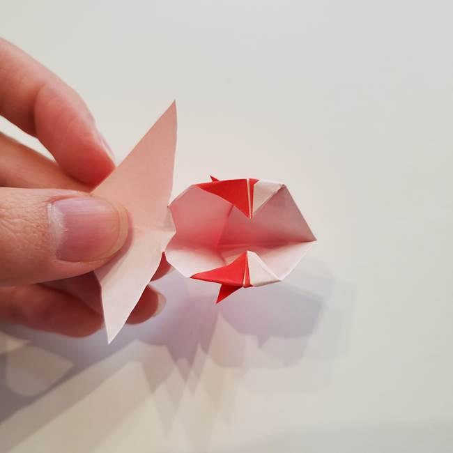 ぷっくり 風船金魚の折り紙の折り方作り方(18)