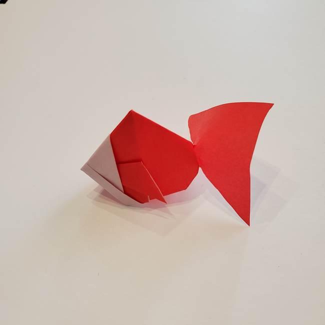 ぷっくり 風船金魚の折り紙の折り方作り方(19)
