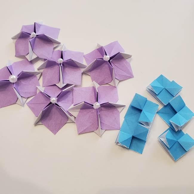 ガクアジサイの折り紙 折り方作り方1
