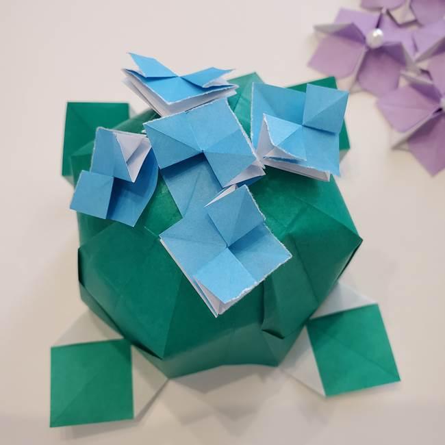 ガクアジサイの折り紙 折り方作り方2(2)