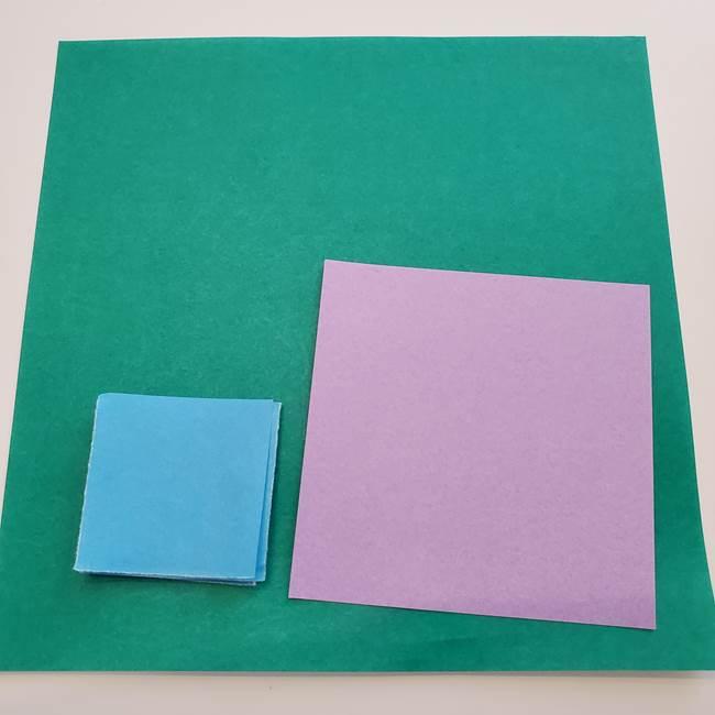 ガクアジサイの折り紙 用意するもの(1)