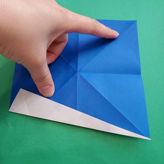 ポケモンの折り紙 アシマリの折り方作り方(13)