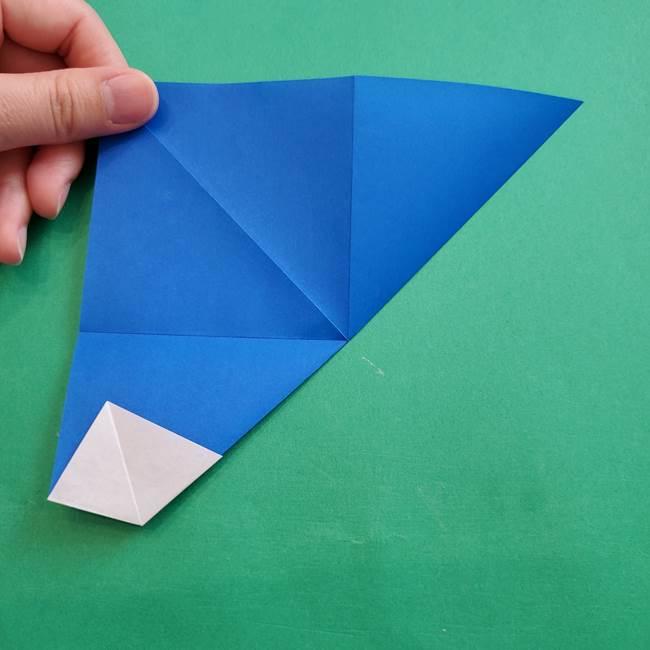 ポケモンの折り紙 アシマリの折り方作り方(14)