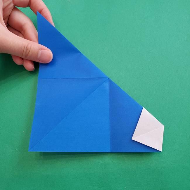 ポケモンの折り紙 アシマリの折り方作り方(15)