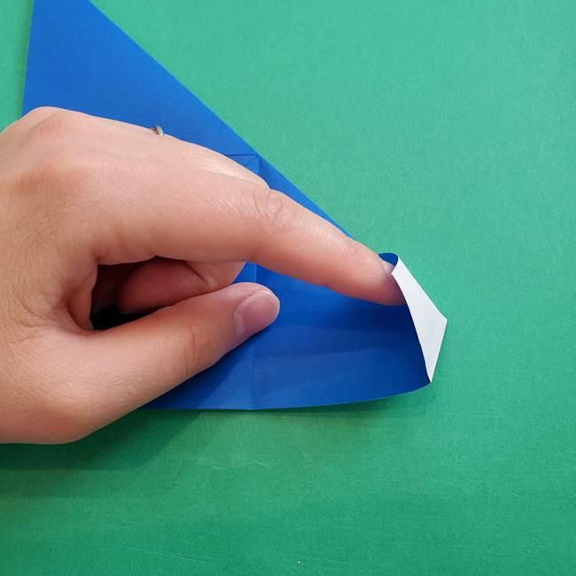 ポケモンの折り紙 アシマリの折り方作り方(16)