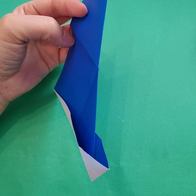 ポケモンの折り紙 アシマリの折り方作り方(19)