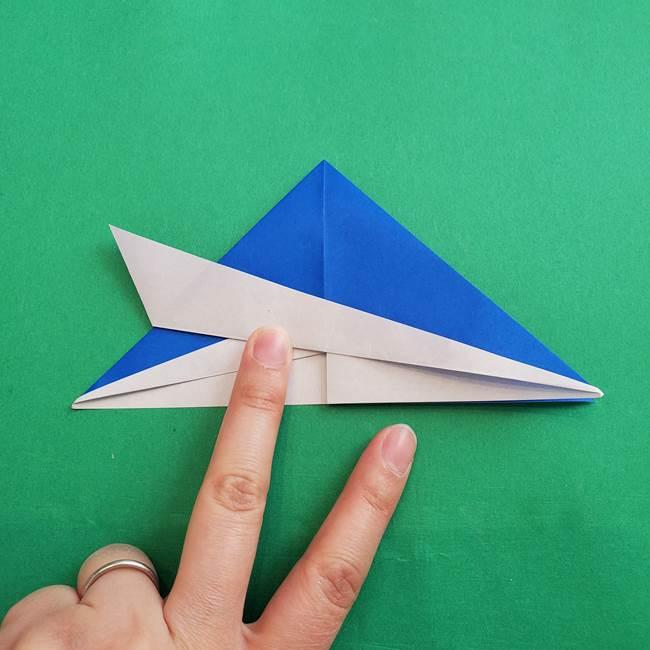 ポケモンの折り紙 アシマリの折り方作り方(22)