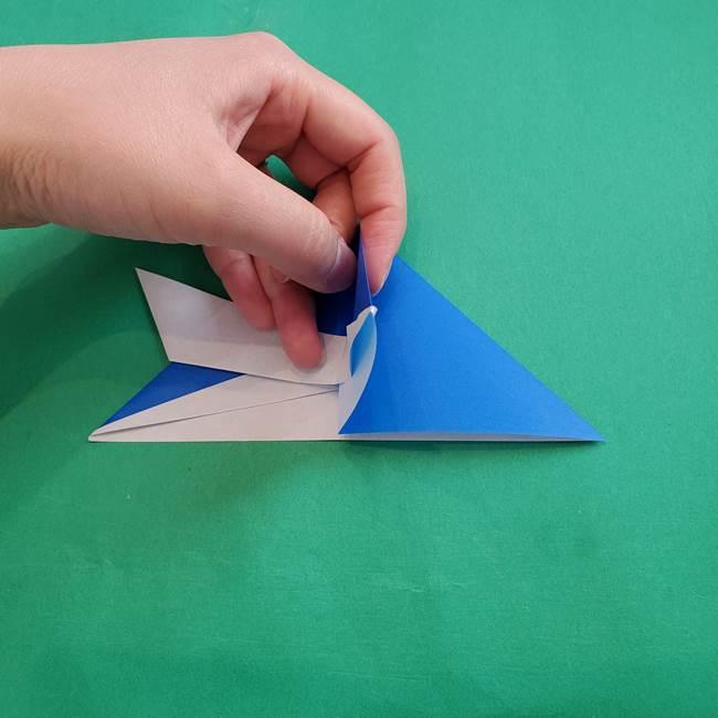 ポケモンの折り紙 アシマリの折り方作り方(23)