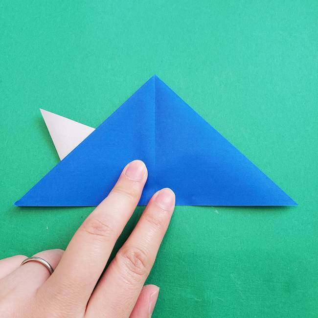 ポケモンの折り紙 アシマリの折り方作り方(24)