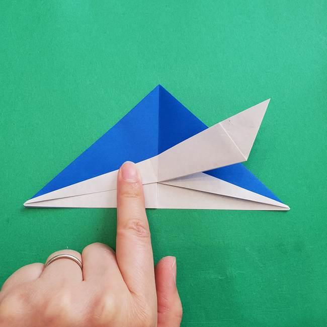 ポケモンの折り紙 アシマリの折り方作り方(27)